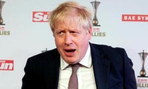 Boris Johnson attending The Sun Military Awards 2020 in London
