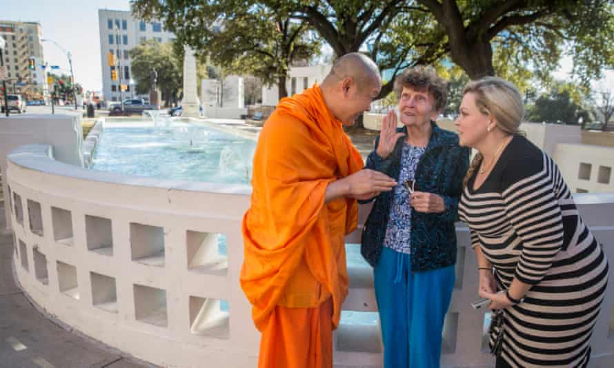 Somboon Rattanawerapong, 47, a buddhist monk from Thailand who lives in Arlington, Texas,. Two women who meet him women confide in him that the elder of them has just today been diagnosed with cancer of the colon.