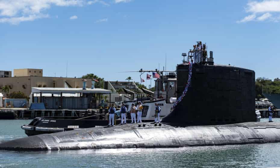 The Virginia-class fast-attack submarine, the USS Illinois