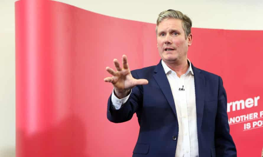 Keir Starmer launching his bid in Manchester to be the next leader of the Labour party.