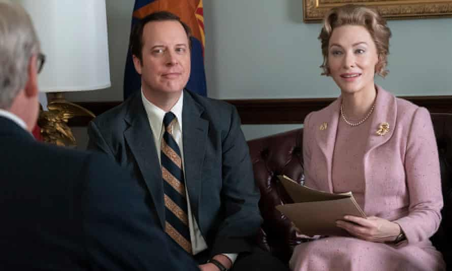 Cate Blanchett as Phyllis Schlafly with James Madge as John Ashbrook in Mrs America. Photograph: Michael Gibson/FX/BBC