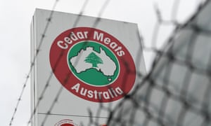 Signage at the Cedar Meats plant in Melbourne