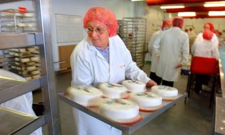 Older woman baking