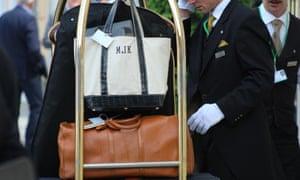 The amazing luggage of Marie-Josée Kravis