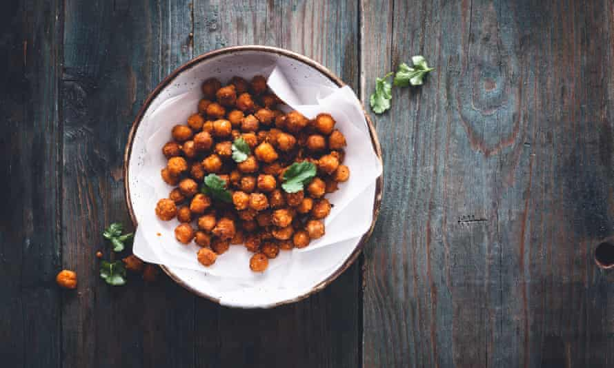 Roasted chickpeas with cumin and paprika