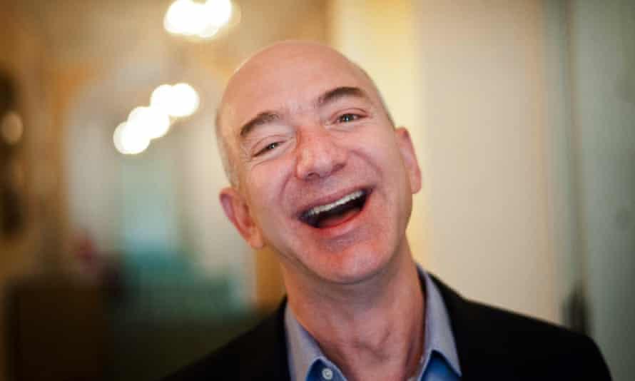 Amazon founder Jeff Bezos laughing