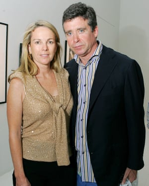 McInerney with his fourth wife, Anne Hearst, in 2005