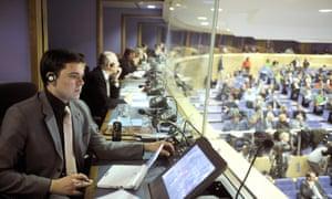 German interpreter European Commission headquarters Brussels