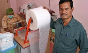 The real Padman … Arunachalam Muruganantham, who invented a machine for make sanitary towels.
