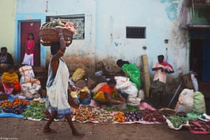 The tribal markets in Odisha are some of the most colourful in all India. Vendors commonly sit on the ground and spread out vegetables they are selling