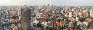 An aerial panorama of Phnom Penh