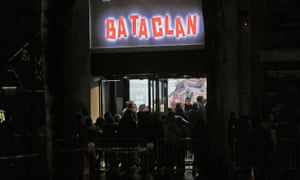 People outside the Bataclan