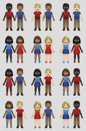 The new variations of interracial emoji couples.