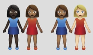 From 2015, updates to emojis have offered a variety of skin tones.