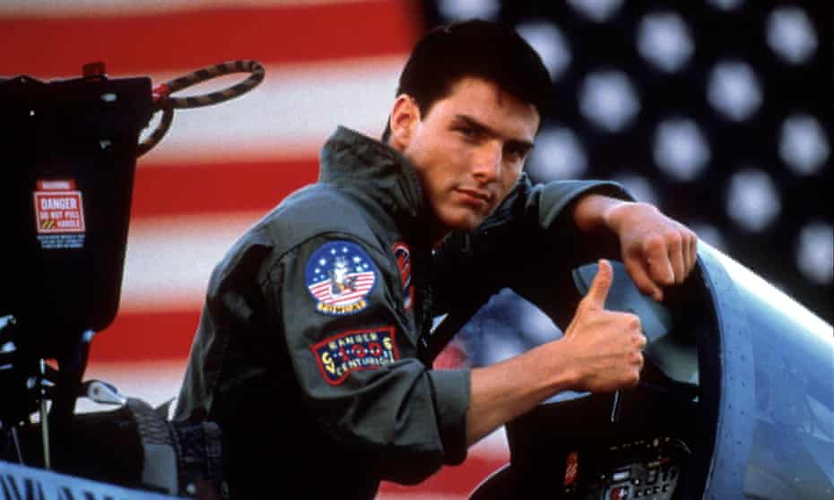 Flyboy fun: Tom Cruise in Top Gun.