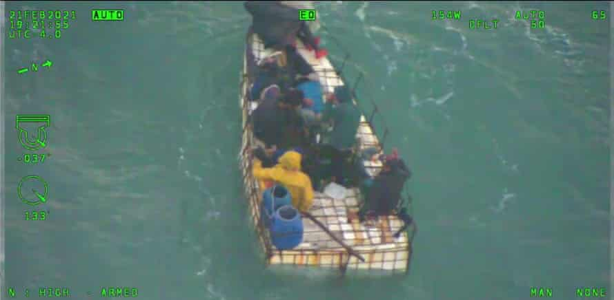 Eight Cuban migrants who were at sea for 16 days are recovering after their makeshift vessel capsized off Florida.