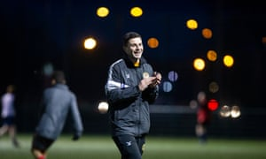 Pádraig Amond coaches the Newport under-15 and under-16 teams twice a week. 'Sergio Agüero is probably not doing that, is he?' he says.