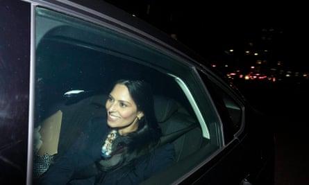Priti Patel leaves Downing Street this week