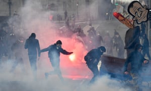 Protests before a presidential campaign rally by National Front's Marine Le Pen in Nantes