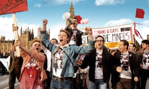 'We're here. We're queer. We're fabulous…' A scene from Pride (2014).
