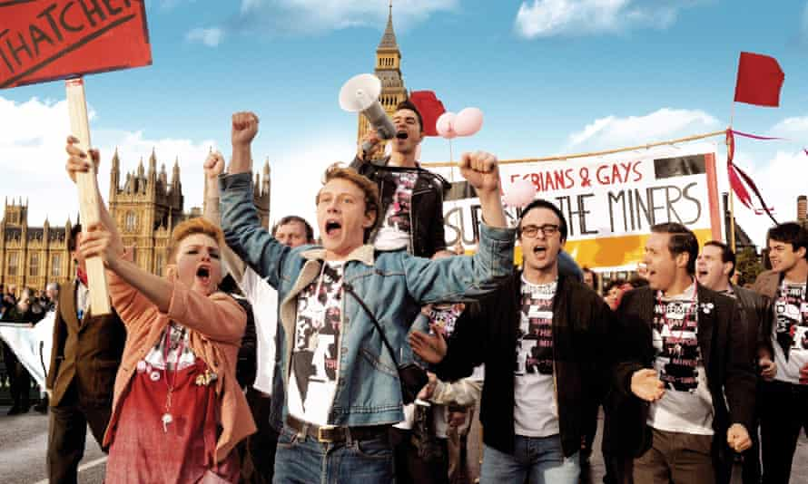 On the march … a scene from the film Pride.