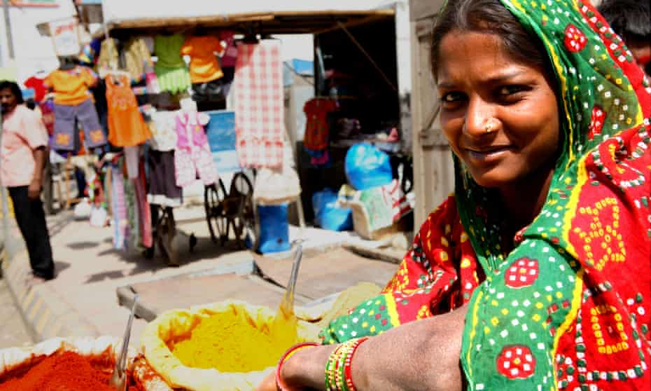 A spice stall in Anjar, Gujarat, India