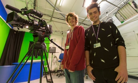 Creative media production students Harry Mitchell and Richard Berry.