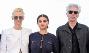Tilda Swinton, Selena Gomez and Jim Jarmusch at Cannes film festival.