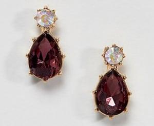 Asos design twinkle stone jewel earrings, £4.
