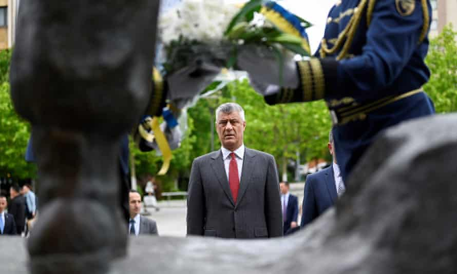 Hashim Thaçi, the Kosovan president, on Liberation Day