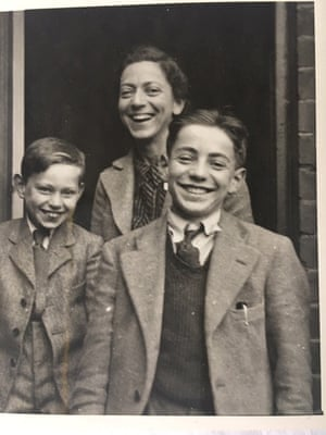 Paul Willer, right, with his mother and younger brother