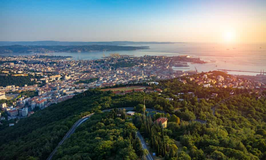 Sunset over Trieste, Italy.