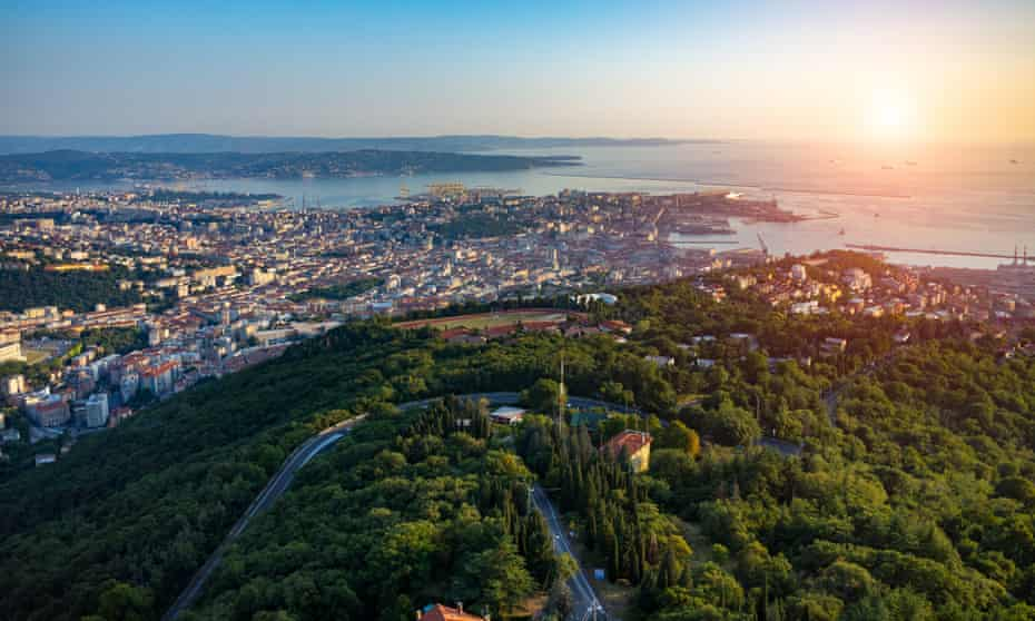 Beautiful sunset over Trieste n Italy