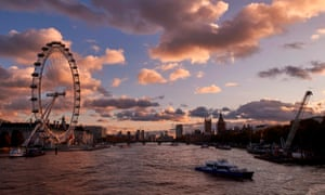 View over the river Thames in London by the London Eye