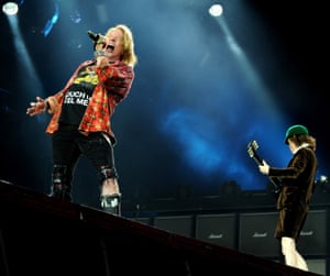 AC/DC at Manchester's Etihad Stadium in June … Angus Young, with Axl Rose on vocals.