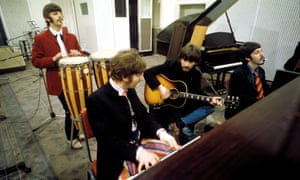 A day in the life … the Beatles recording Sgt Pepper in 1967.