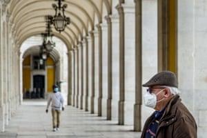 Masked pedestrians