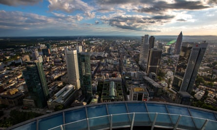 A view of Frankfurt's financial district