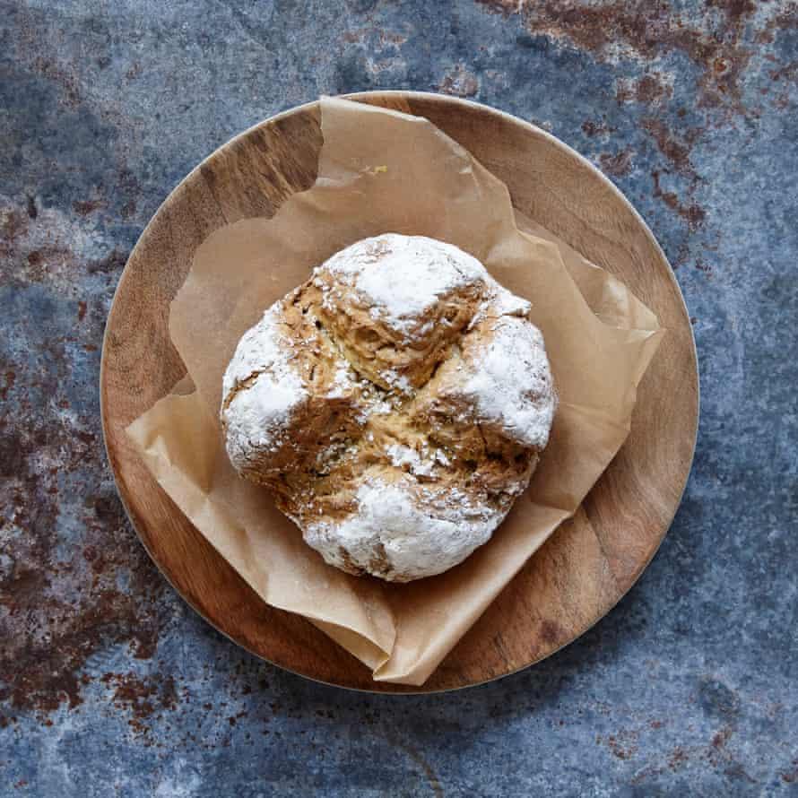 Jack Monroe's coconut milk soda bread requires just four common ingredients.
