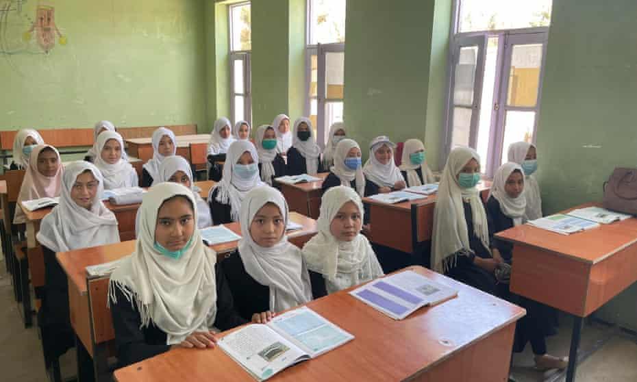 Primary school girls in Malalay school in Lashkar Gah, Helmand