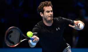 Andy Murray in action during his match against Spain's David Ferrer.
