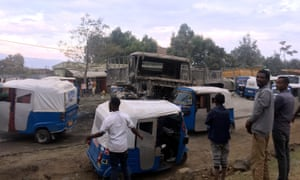 The streets of Ambo have seen the return of military patrols since ethnic Oromos protested against a shipment of smuggled sugar on 25 October.