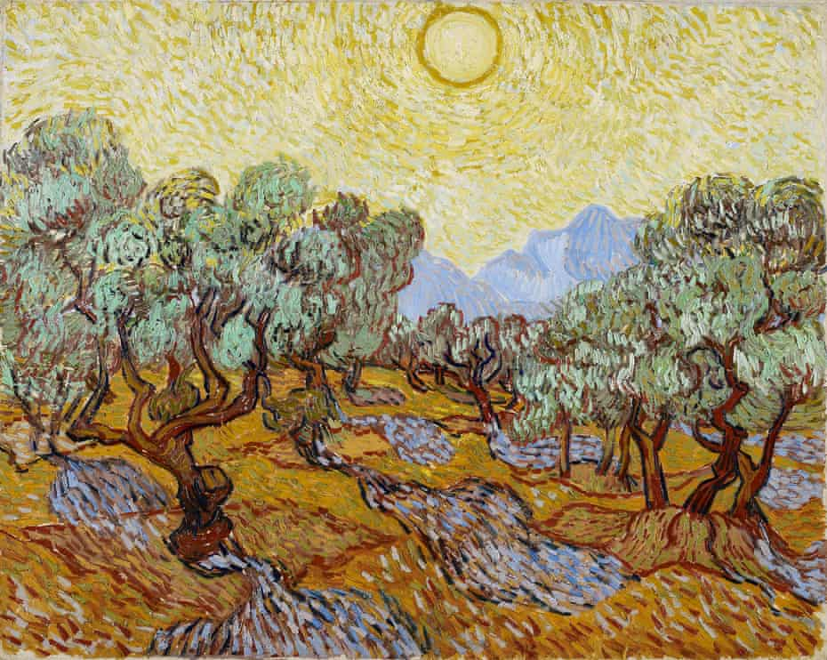 Olive Trees by Vincent van Gogh, 1889.