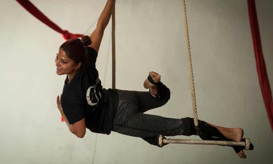 Saraswati, a Circus Kathmandu performer