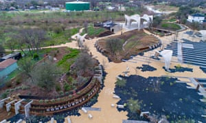 Confluence Park, a new development, is a park that will house educational facilities about sustainable water consumption.
