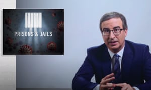 "John Oliver: ""At this point, it's worth asking: what the fuck are we doing here? Particularly during this pandemic but also in general. Because there's obviously a much larger discussion to be had about how millions of people ended up incarcerated in the first place, and whether or not prisons even work — which, I would argue, they absolutely do, if you're only goal is to have a lot of people in prison. The fact is, we should be depopulating prisons and jails as quickly as we can right now."""