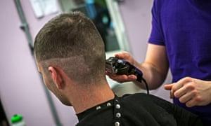 Haircutting at Oakwood
