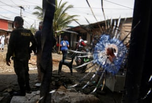 Aftermath of a shootout in Buenaventura