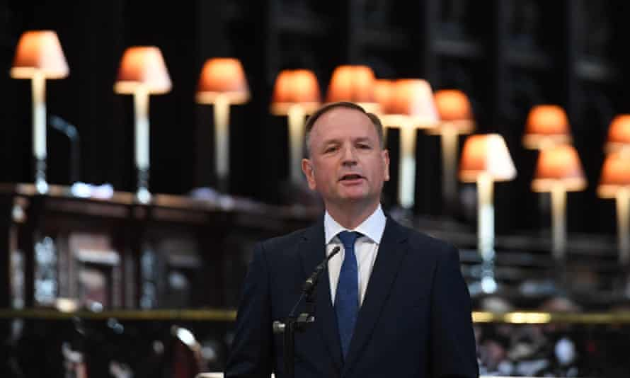 NHS England chief executive Simon Stevens speaks at a service at St Paul's cathedral, London, on 5 July to mark the 73rd birthday of the NHS.