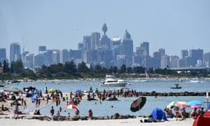 Brighton-Le-Sands Beach, in the city's southern suburbs, close to Sydney airport.